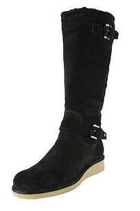 Emporio Armani Eu 9 Us Womens Goat Leather black Boots
