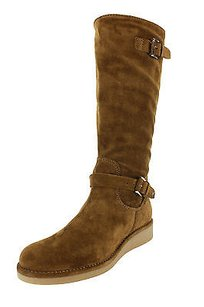 Emporio Armani Eu 6 Us Womens Suede brown Boots