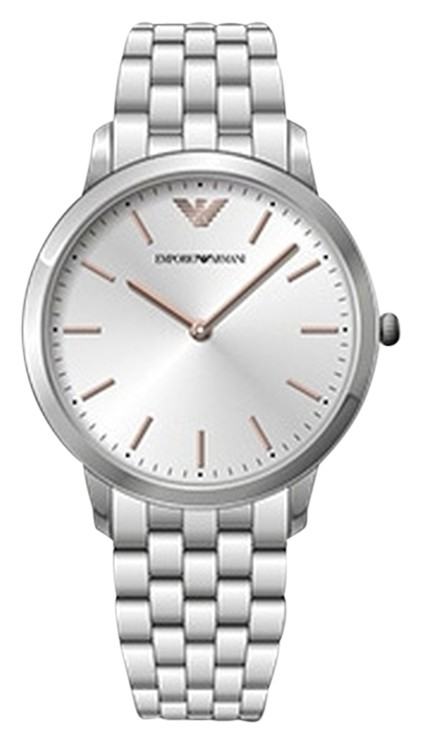 Emporio Armani Silver Stainless Steel Link Strap Men's Watch AR2484