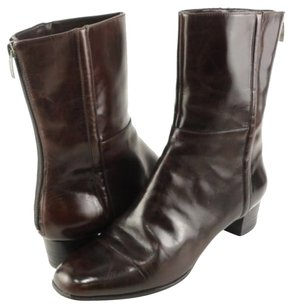 Enzo Angiolini Strut Leather Womens Designer Ankle Worn Once Brown Boots