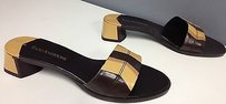 Enzo Angiolini Gold Brown Sandals