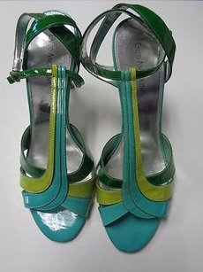 Enzo Angiolini Green And Blue Pumps