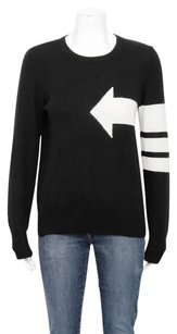 Equipment Femme Shane White Arrow Print Knit Blouse Cashmere Sweater