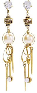 Erickson Beamon ERICKSON BEAMON Gold-Plated, Swarovski Crystal and Faux Pearl Earrings