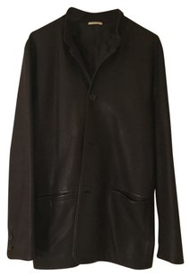 Ermenegildo Zegna Dark Brown Leather Jacket