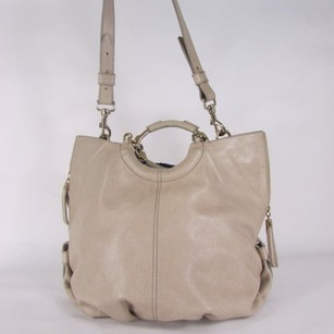 Escada Leather Tote in Beige