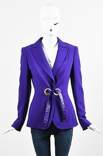 Escada Wool Grommet Purple Jacket