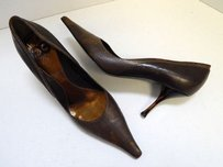 Escada Italy Leather Brown Pumps