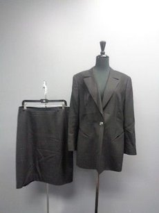 Escada Escada Black Button Up Skirt Suit W Lining Sizes And Wool Blend Sma5358