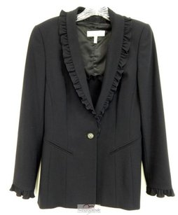 Escada Escada Black Wool Lightweight Ruffled 2pc Jacket Wmatching Shell Eur Germany