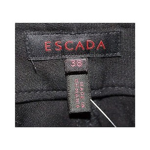 Escada Black Cotton Blend Flare Leg Jeans
