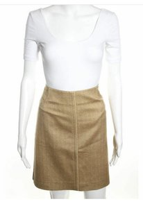 Escada Silk A-line Skirt Gold