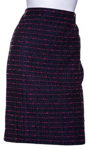 Escada Skirt Navy and Magenta