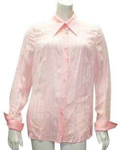 Escada 100 Silk Long Top Peach