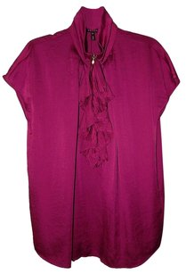 Escada Ruffled Top Raspberry
