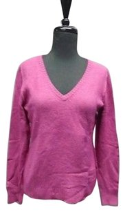 Escada Sport Long Sleeved V Neck Stretchy Exposed Seam 2398a Sweater