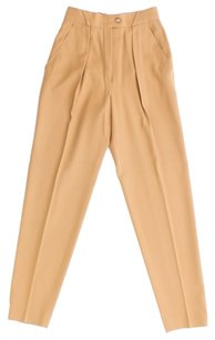 Escada Wool Trouser Pants CAMEL