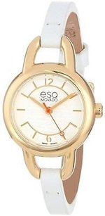ESQ Esq By Movado Status Gold-tone Leather Ladies Watch 07101450