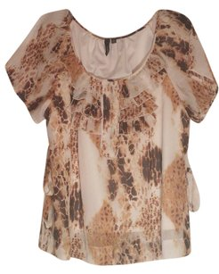 Essentials Boutique Top gold/ brown/ off white