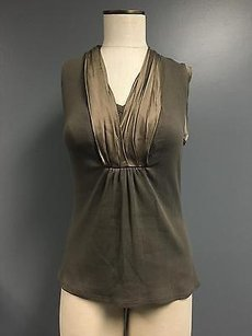 Etcetera Olive Cotton Top Green