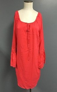 Etcetera short dress Coral Tie Front on Tradesy