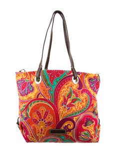 Etro Paisley Print Colorful New Tote in Red