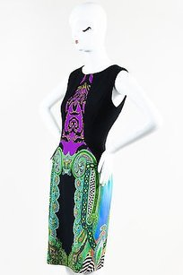 Etro Black Purple Green Multi Dress