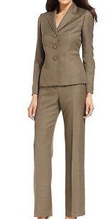 Evan Picone Evan Picone Green Three-button Two-piece Womens Pant Suit 028