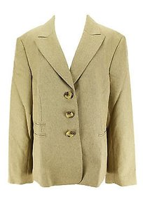 Evan Picone Evan Picone Womens Suit Gold Polyester -