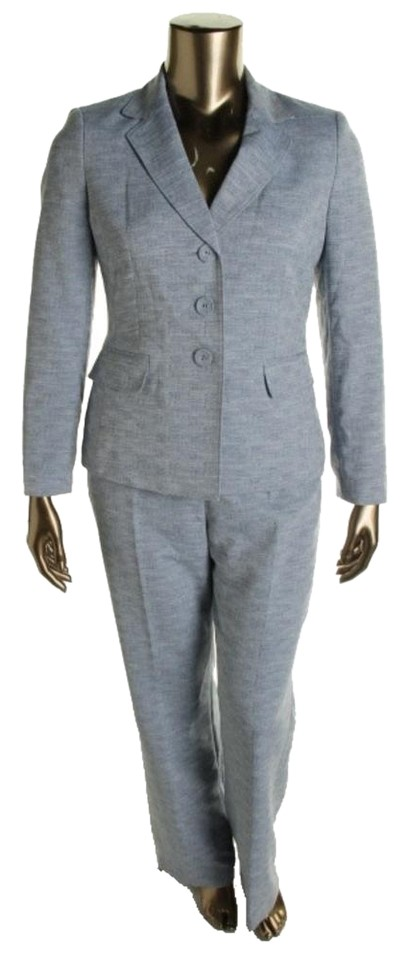 Evan Picone Navy New Womens Classic Time 2pc Three Button Pant Suit