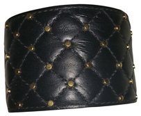 Express Faux Leather Brass Studded Wristband