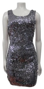 Express Low Back Sequin Mini Bodycon Sleeveless Sp Dress
