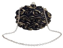Expressions Womens Nyc Black & Metallic Gold Clutch