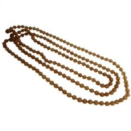 Fabulous Summer Collection In Mocha Glass Beads Summer Long Necklace