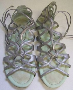 Farylrobin Leather Silver Sandals