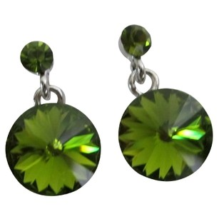 Emerald Crystal Earrings Gorgeous Gift