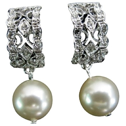 Fashion Jewelry For Everyone Bridal Wedding Drop Ivory Pearl Post Earrings