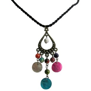 Multicolor Fashionably Fun Beads and Shell As Gift Necklace