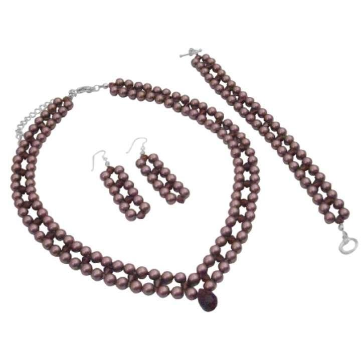 Burgundy Find Jewelry Set