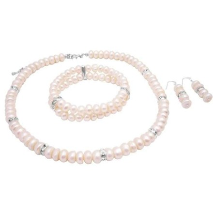 White Freshwater Pearls Ideal Jewelry Set