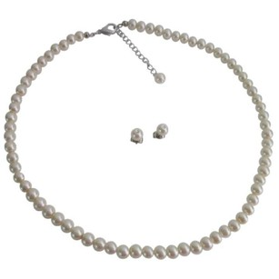 Ivory 8 Necklaces Jessica Pearls Bridesmaid Party Gifts Jewelry Set