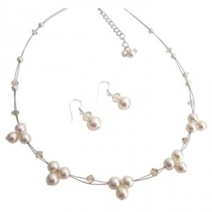 Incredible Wedding Jewelry Low Price Ivory Pearls
