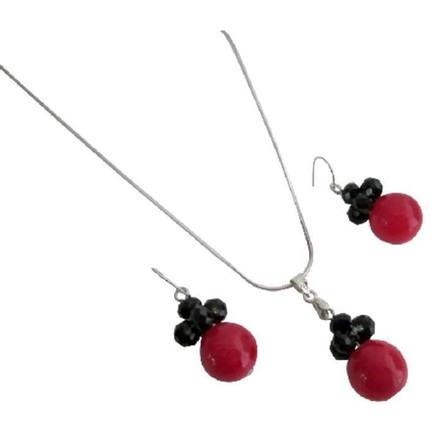 Red & Black Combo Holiday Gifts Cute Girls Gifts Jewelry Set