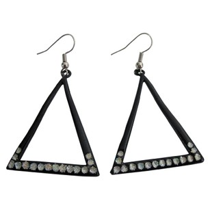 Summer Fun Wearing Affordable Earrings Triangular White Cubic Zircon