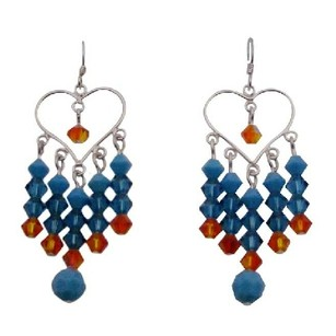 Swarovski Turquoise Fire Opal Colorful Earrings For Prom Gift