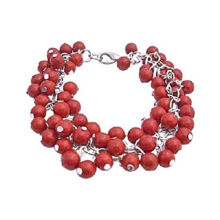 Coral Red Tiny Multi Bracelet