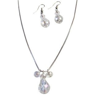 Versatile Jewelry In Ab Crystal Teardrop Jewelry Set With Ab Round Crystal