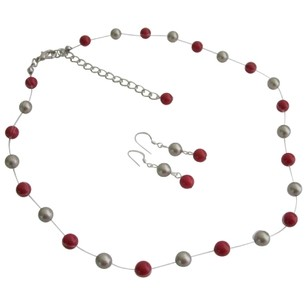 Wedding Jewelry In Latte And Red Color Jewelry For Bridesmaid Gifts