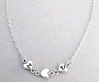 Fashion Jewelry For Everyone Personalized Heart Necklace 2 Initial Necklace - Silver Chain Valentine Gift Holiday Gift Christmas Gift