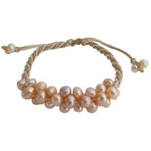 Fashion Jewelry For Everyone South Sea Freshwater Pearls Braid Hand Knitted Stunning Bracelet